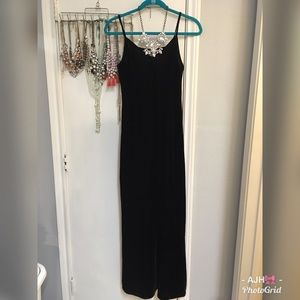 Forever 21 Black Velvet Long Dress